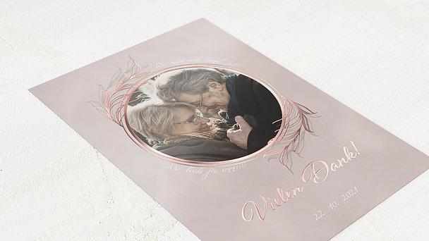 Danksagungskarten Goldene Hochzeit - Güldene Liebe