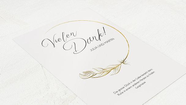 Danksagungskarten Goldene Hochzeit - Goldener Glücksfunke