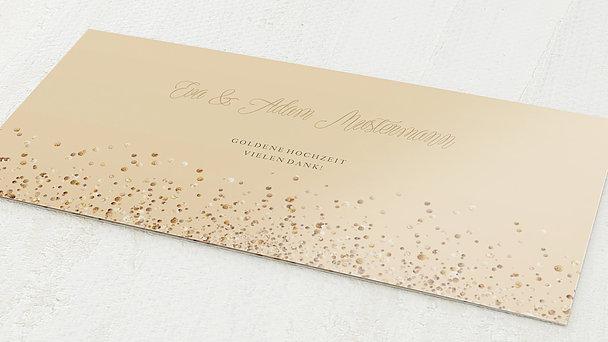 Danksagungskarten Goldene Hochzeit - Gold-Geflitter