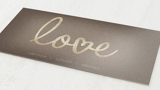 Danksagungskarten Goldene Hochzeit - Pure Love