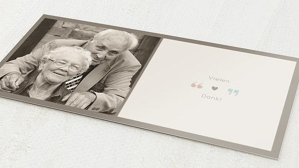 Danksagungskarten Goldene Hochzeit - Unser Herz
