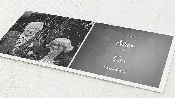 Danksagungskarten Goldene Hochzeit - Getäfelt