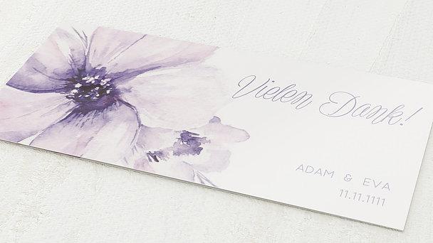 Danksagungskarten Goldene Hochzeit - Goldene Blütenpracht