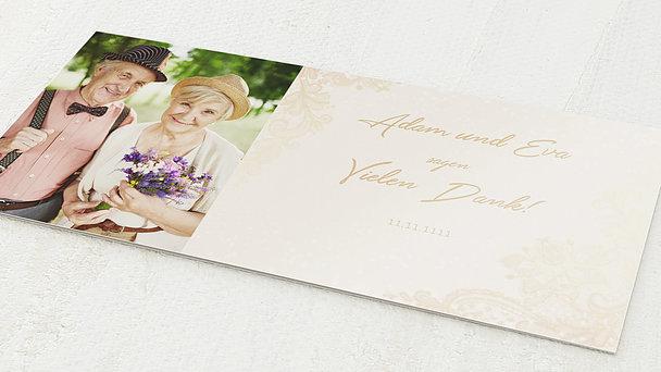 Danksagungskarten Goldene Hochzeit - Liebevolle Anmut