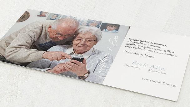 Danksagungskarten Goldene Hochzeit - Nur 50 Jahre