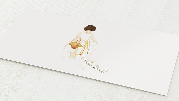 Danksagungskarten Goldene Hochzeit - Blumenmädchen