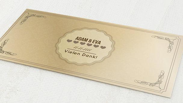 Goldene Hochzeit Ornamente Detail