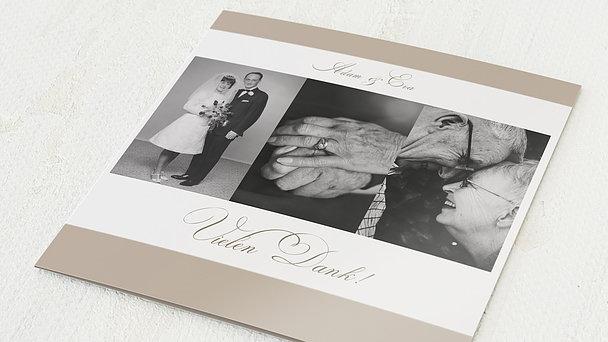 Danksagungskarten Goldene Hochzeit