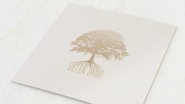 Danksagungskarten Goldene Hochzeit - Goldener Stammbaum