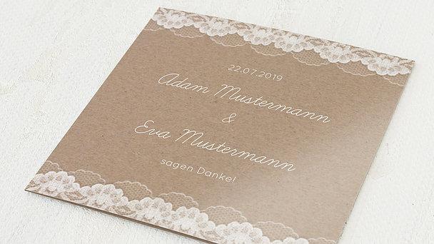 Danksagungskarten Goldene Hochzeit - Hochzeitsspitze