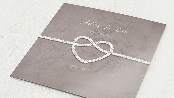 Danksagungskarten Goldene Hochzeit - Starke Verbindung