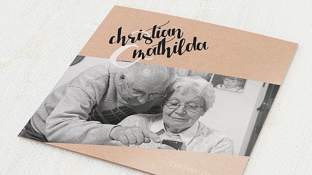 Danksagungskarten Goldene Hochzeit - Goldene Ziellinie
