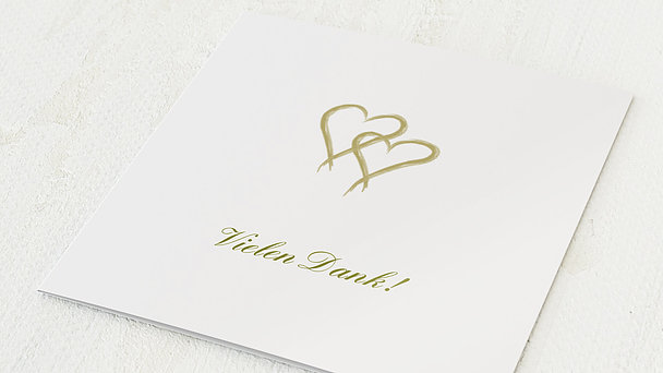 Danksagungskarten Goldene Hochzeit - Mein Herz