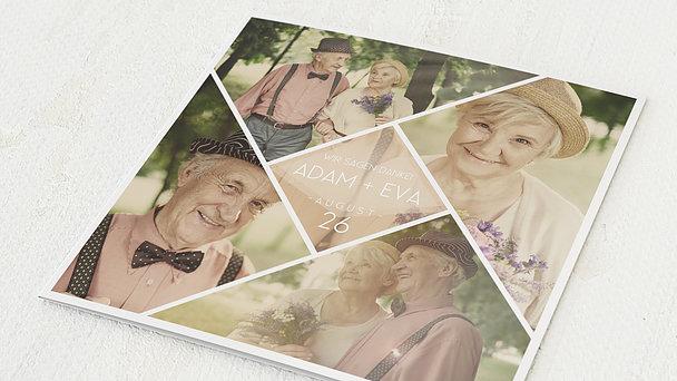 Danksagungskarten Goldene Hochzeit - Facettenreiche 50 Jahre