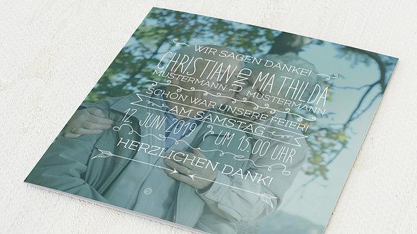 Danksagungskarten Goldene Hochzeit - 50 Jahre Liebeshoch