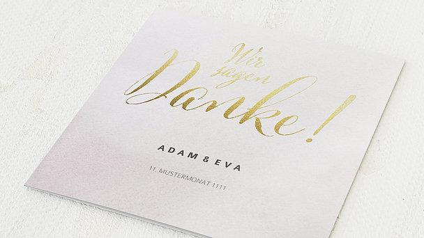 Danksagungskarten Goldene Hochzeit - Bedeutsame Zweisamkeit