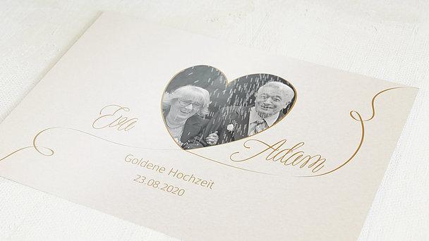 Danksagungskarten Goldene Hochzeit - Leichte Goldhochzeit