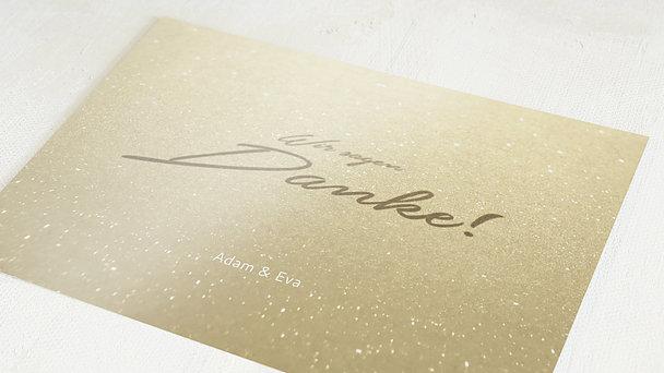 Danksagungskarten Goldene Hochzeit - Goldweg