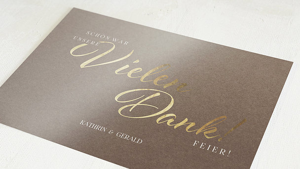 Danksagungskarten Goldene Hochzeit - Rustikale Eleganz