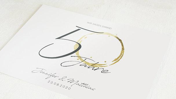 Danksagungskarten Goldene Hochzeit - Liebesspur