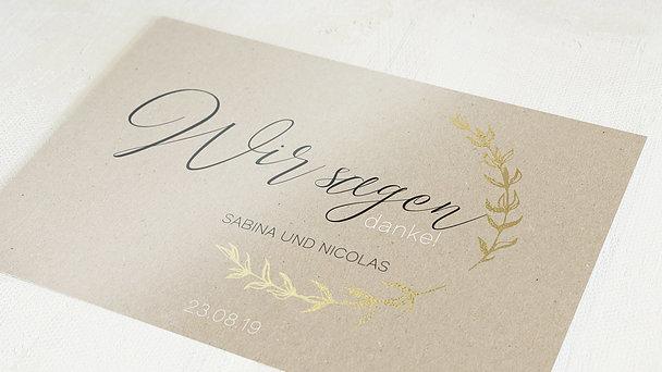 Danksagungskarten Goldene Hochzeit - Freudenjahre