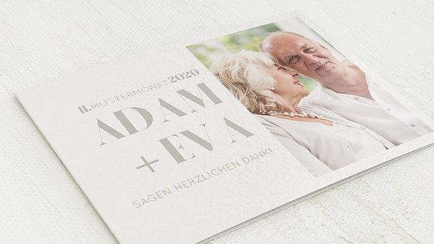 Danksagungskarten Goldene Hochzeit - 50 Jahre Vollendung