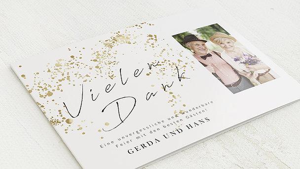 Danksagungskarten Goldene Hochzeit - Freudensprenkel