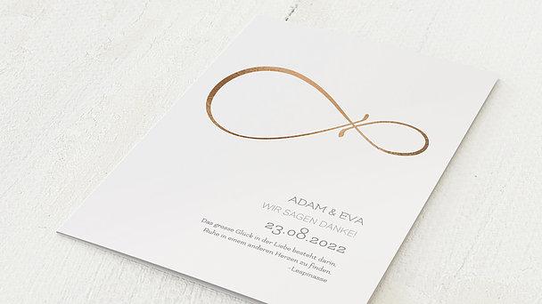 Danksagungskarten Goldene Hochzeit - Unendlich Liebevolle 50 Jahre