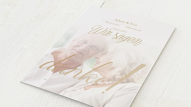 Danksagungskarten Goldene Hochzeit - Ja, wir beide für immer