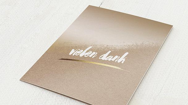 Danksagungskarten Goldene Hochzeit - Goldene Kontraste