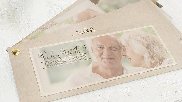 Danksagungskarten Goldene Hochzeit - Goldene Post