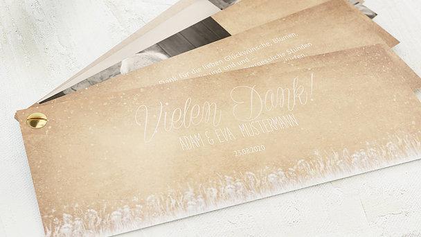 Danksagungskarten Goldene Hochzeit - Goldlicht