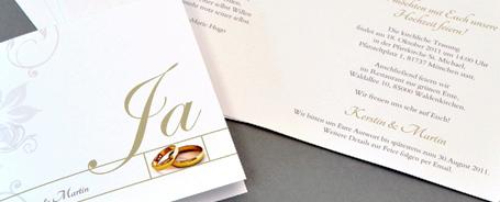Einladungstexte zur Hochzeit, Text-Vorlagen für Hochzeitseinladungen.